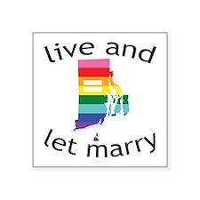 Rhode Island live marry blk font Sticker