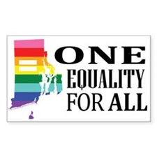 Rhode Island one equality blk font Decal