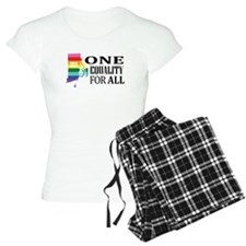Rhode Island one equality blk font Pajamas