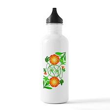 Orange Flowers Reflect Water Bottle