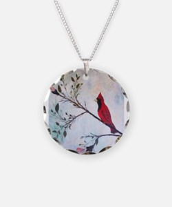 Sweet Red Cardinal Necklace