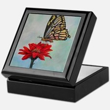 Swallowtail Butterfly Macro Painting Keepsake Box
