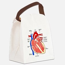 Heart Diagram Canvas Lunch Bag
