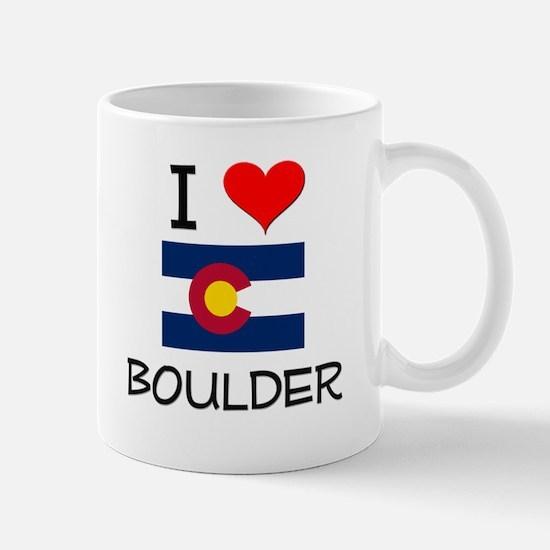 I Love Boulder Colorado Mugs