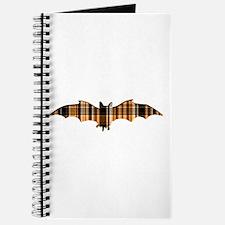 Halloween Plaid Bat Journal