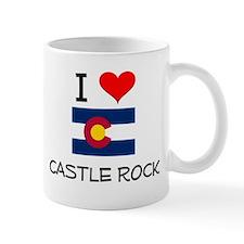 I Love Castle Rock Colorado Mugs