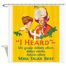 Gossip, Work Incentive, Vintage Poster Shower Curt