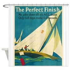 The Perfect Finish, Sailboat,Motivational Vintage