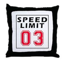 Speed Limit 03 Throw Pillow