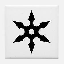 Ninja Shuriken Ideology Tile Coaster