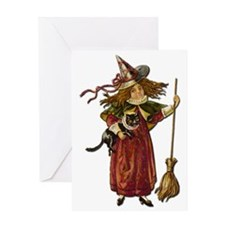Vintage Witch Greeting Card