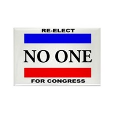 Re-elect No One For Congress Magnets