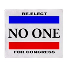 Re-elect No One For Congress Throw Blanket