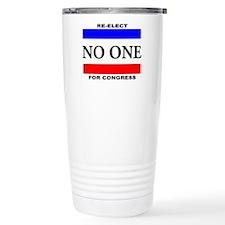 Re-elect No One For Congress Travel Mug