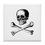 Skull and Crossbones Tile Coaster