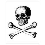 Skull and Crossbones Small Poster