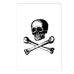 Skull and Crossbones Postcards (Package of 8)