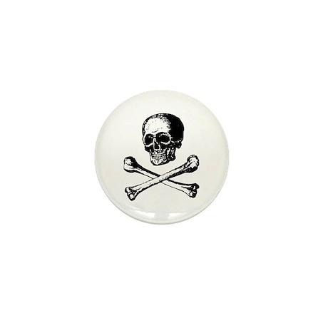 Skull and Crossbones Mini Button