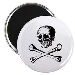 "Skull and Crossbones 2.25"" Magnet (100 pack)"