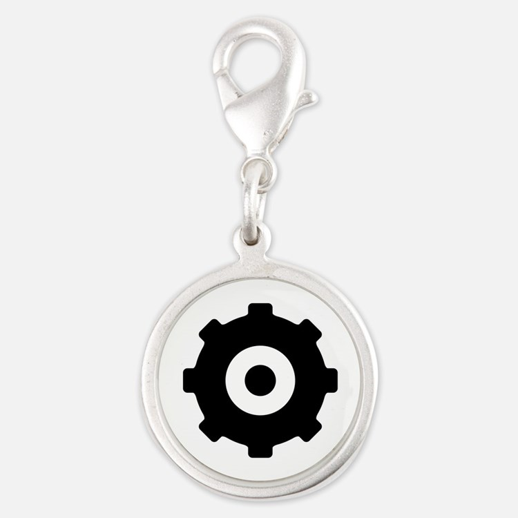 Gearhead Ideology Silver Round Charm