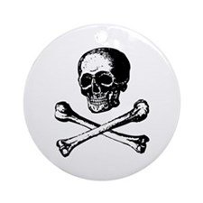 Skull and Crossbones Ornament (Round)