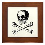 Skull and Crossbones Framed Tile