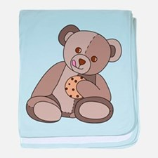 Teddy Bean and Cookie baby blanket