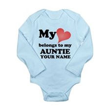 My Heart Belongs To My Auntie (Custom) Body Suit