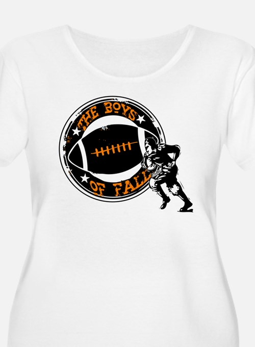 Boys of Fall Football Desgin Plus Size T-Shirt