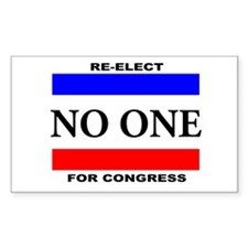 Re-elect No One For Congress Decal
