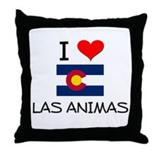 I Love Las Animas Colorado Throw Pillow