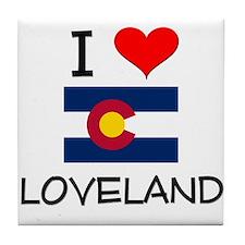 I Love Loveland Colorado Tile Coaster