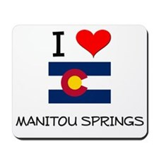 I Love Manitou Springs Colorado Mousepad