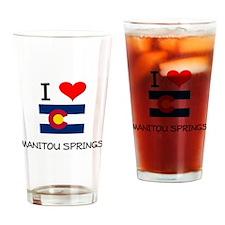 I Love Manitou Springs Colorado Drinking Glass