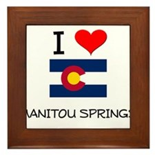 I Love Manitou Springs Colorado Framed Tile
