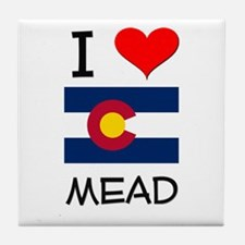 I Love Mead Colorado Tile Coaster