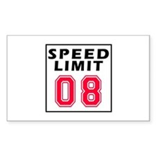 Speed Limit 08 Decal