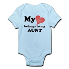 My Heart Belongs To My Aunt Body Suit