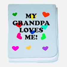 My Grandpa Loves Me baby blanket