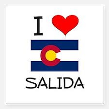 "I Love Salida Colorado Square Car Magnet 3"" x 3"""