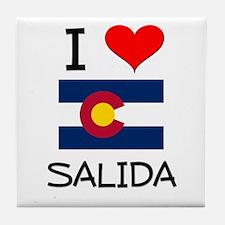 I Love Salida Colorado Tile Coaster