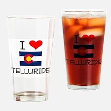 I Love Telluride Colorado Drinking Glass
