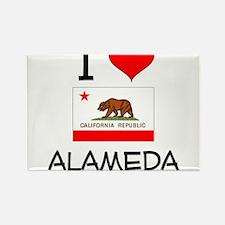 I Love Alameda California Magnets
