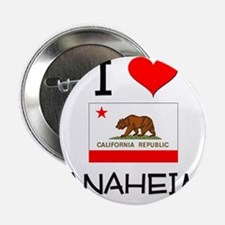 """I Love Anaheim California 2.25"""" Button"""