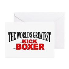 """The World's Greatest Kick Boxer"" Greeting Cards ("
