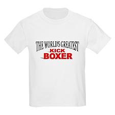 """The World's Greatest Kick Boxer"" Kids T-Shirt"