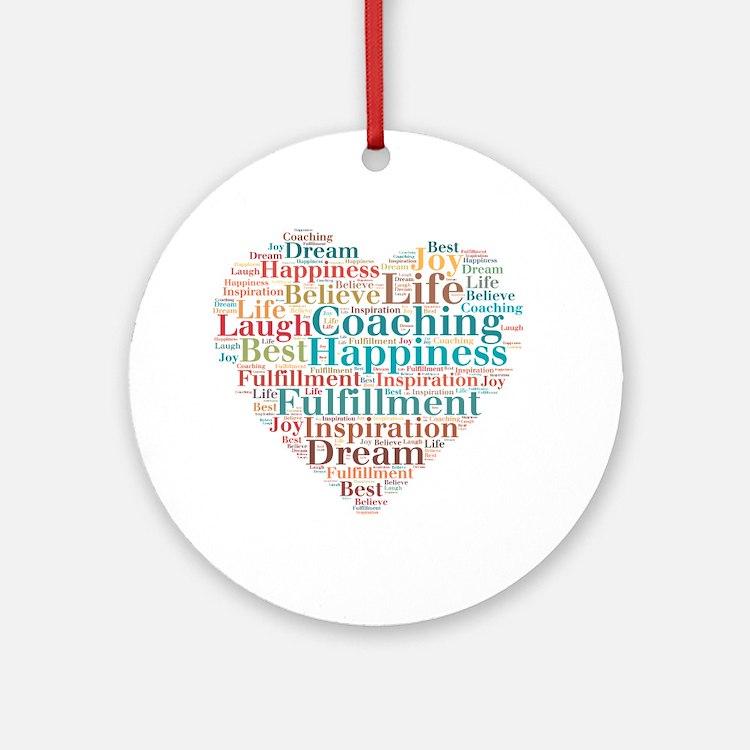 Coaching Wordart Ornament (Round)