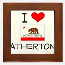 I Love Atherton California Framed Tile