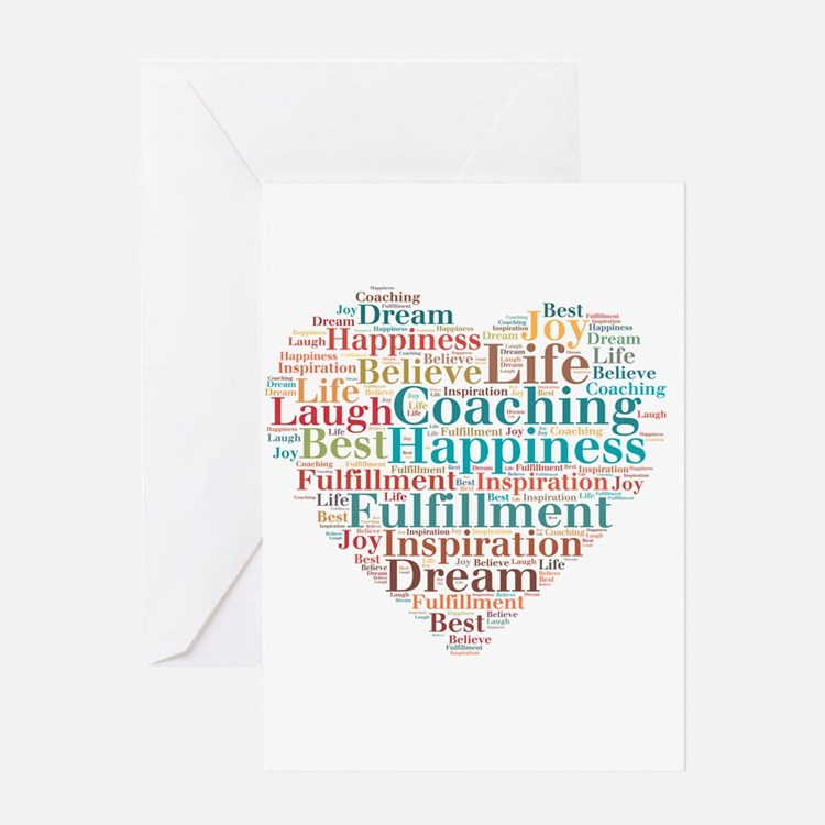 Coaching Wordart Greeting Cards