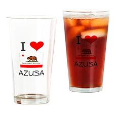 I Love Azusa California Drinking Glass